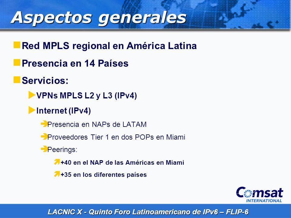 Aspectos generales Red MPLS regional en América Latina