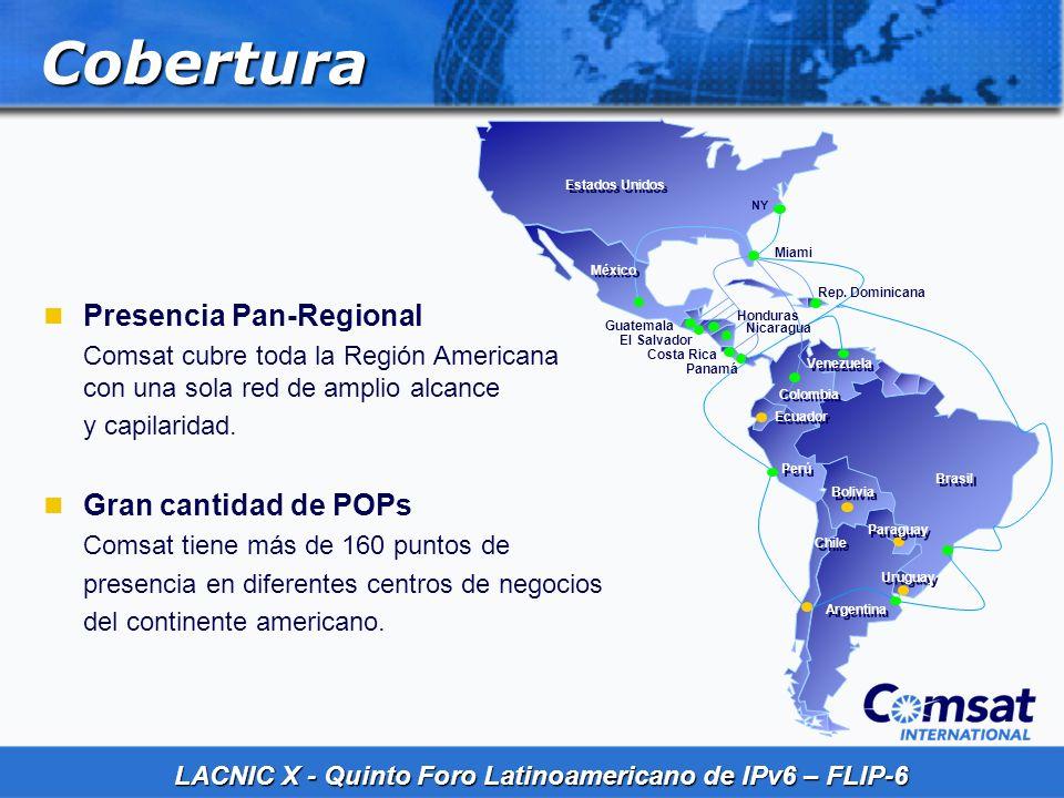 Cobertura Presencia Pan-Regional Gran cantidad de POPs