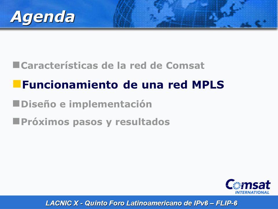 Agenda Funcionamiento de una red MPLS