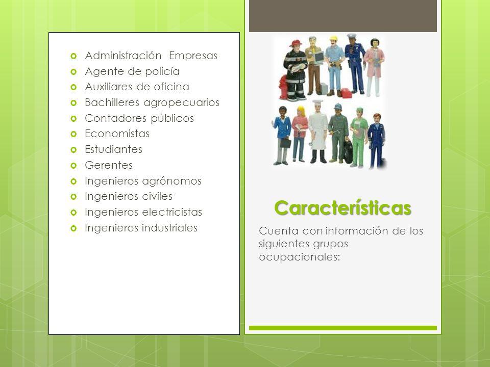 Características Administración Empresas Agente de policía