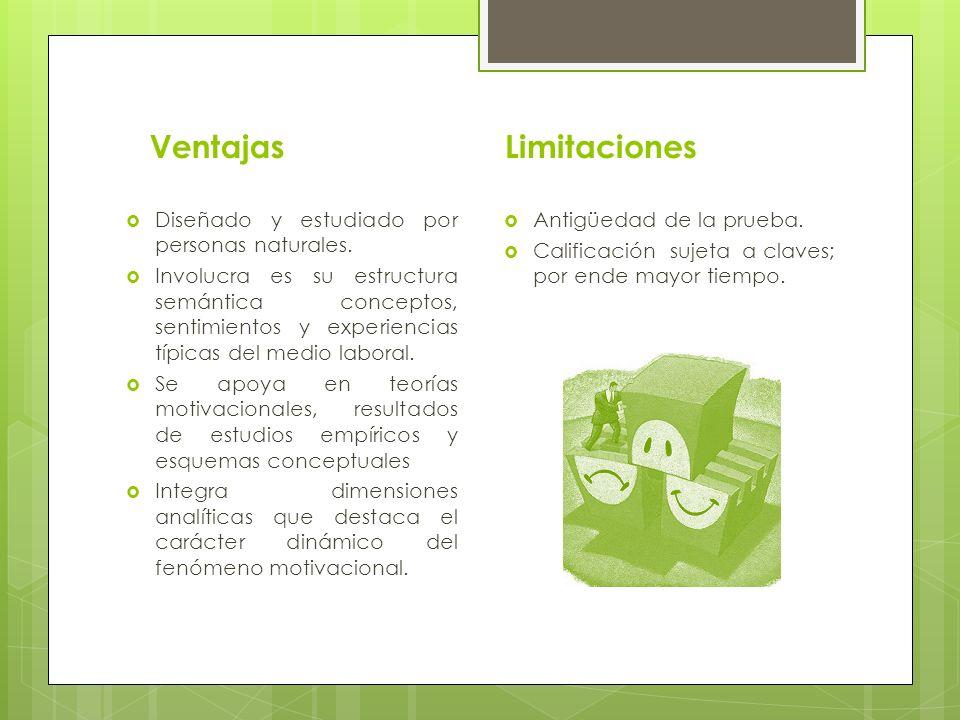 Ventajas Limitaciones Diseñado y estudiado por personas naturales.