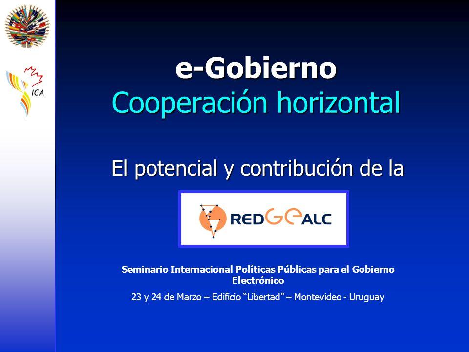 e-Gobierno Cooperación horizontal