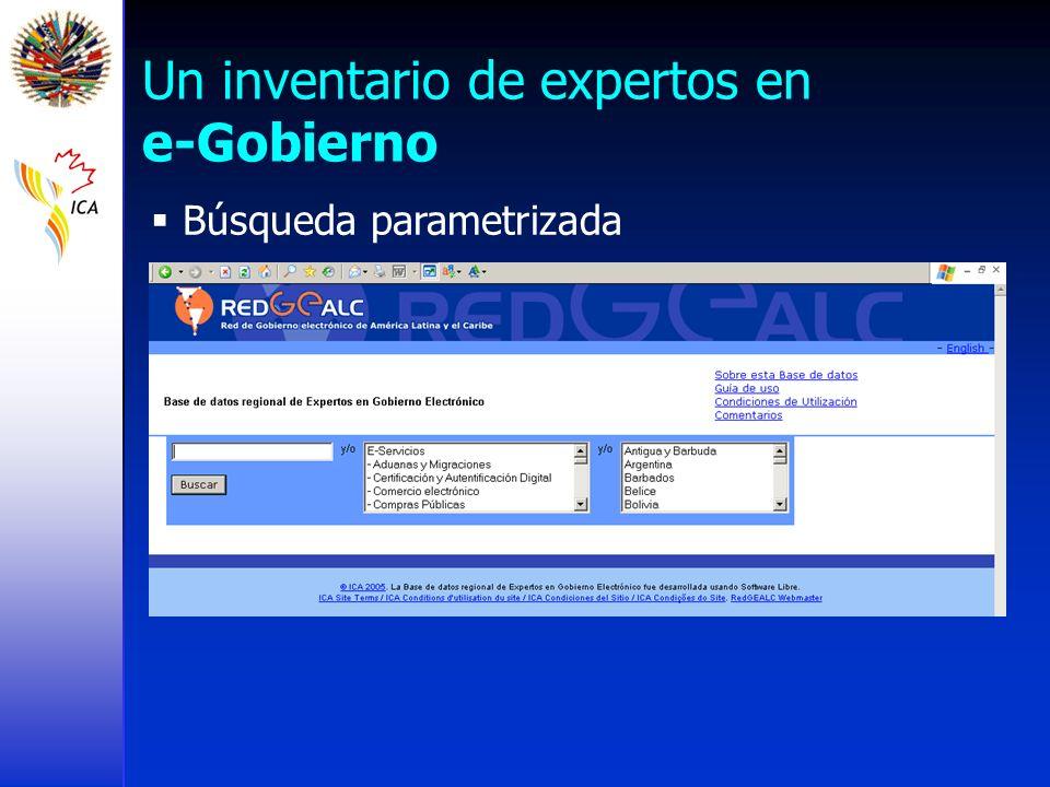 Un inventario de expertos en e-Gobierno