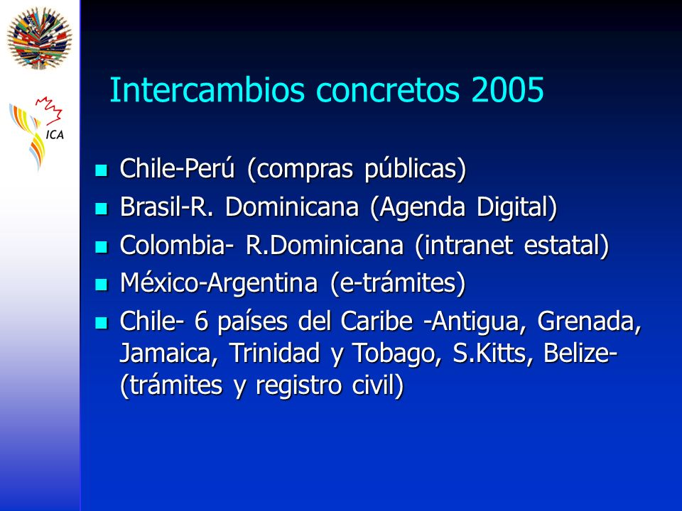 Intercambios concretos 2005