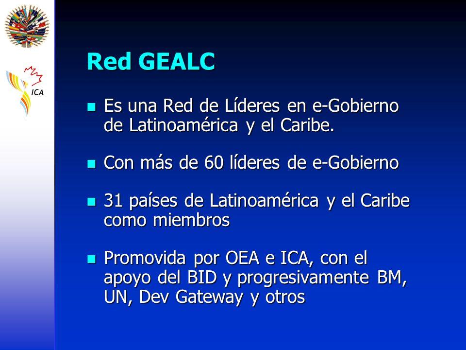 Red GEALC Es una Red de Líderes en e-Gobierno de Latinoamérica y el Caribe. Con más de 60 líderes de e-Gobierno.