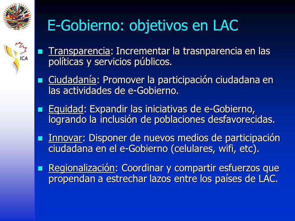 E-Gobierno: objetivos en LAC