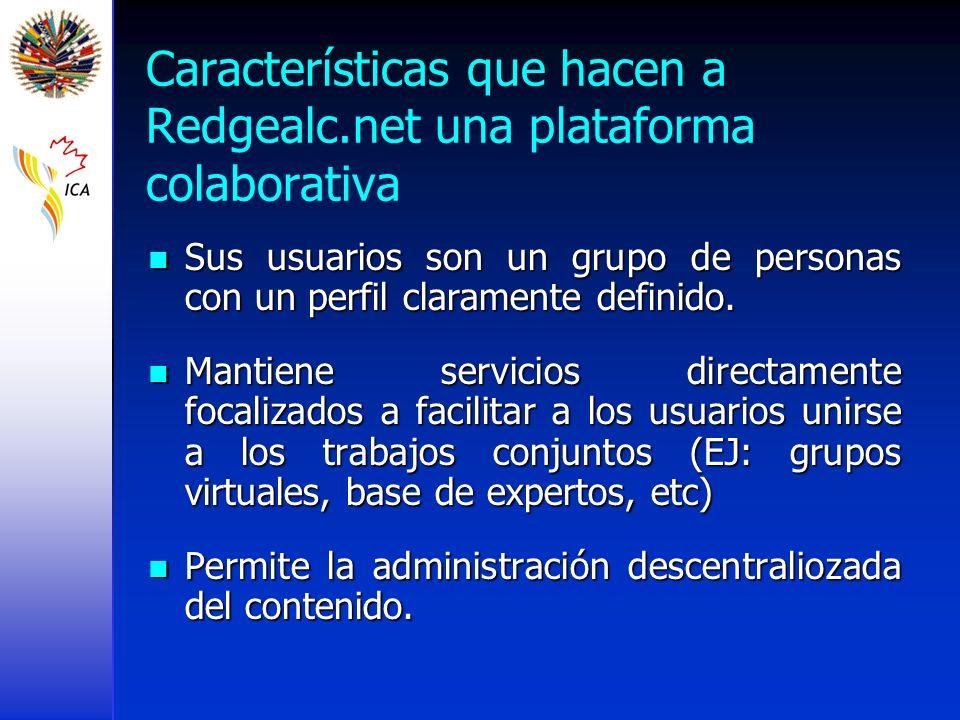 Características que hacen a Redgealc.net una plataforma colaborativa