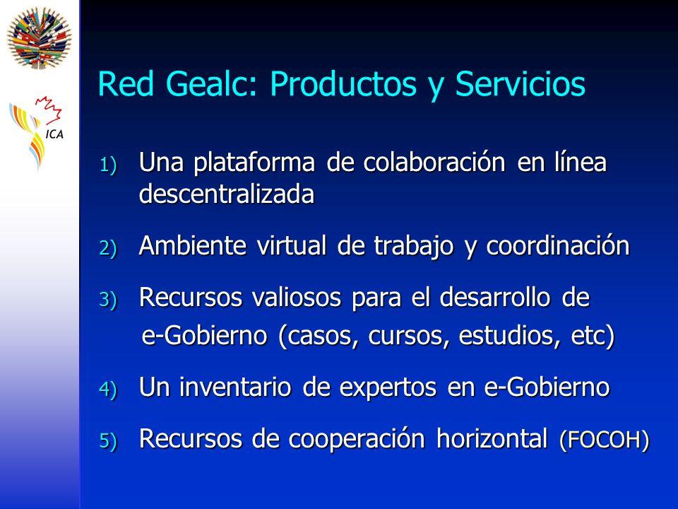 Red Gealc: Productos y Servicios