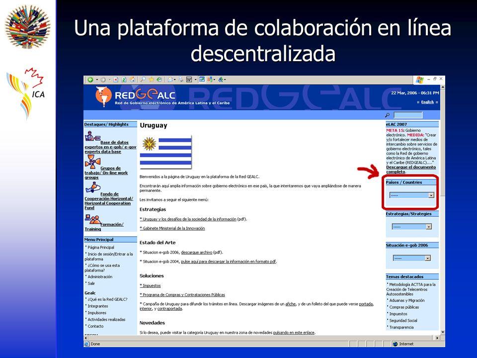 Una plataforma de colaboración en línea descentralizada