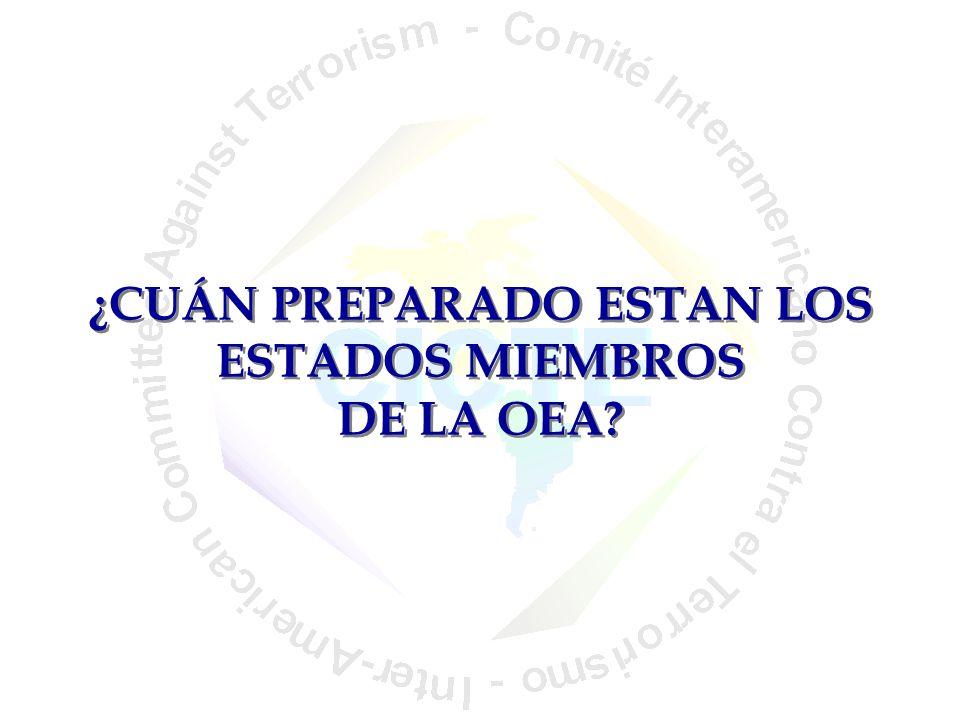 ¿CUÁN PREPARADO ESTAN LOS ESTADOS MIEMBROS DE LA OEA
