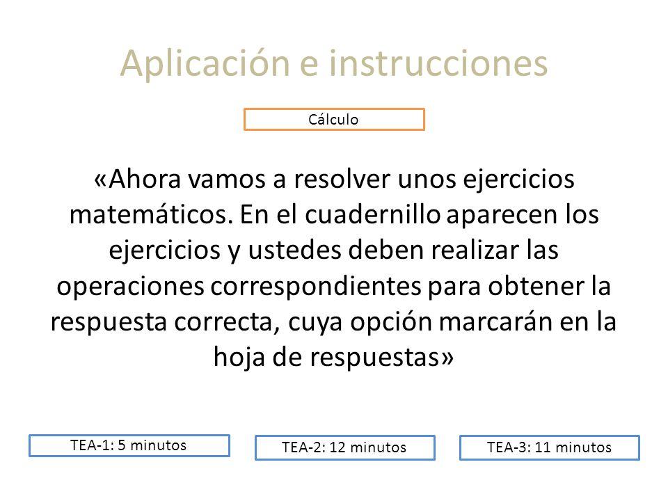 Aplicación e instrucciones