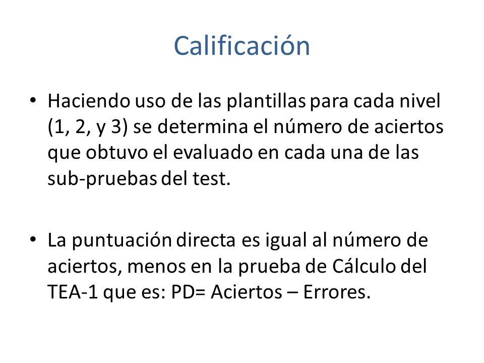 Calificación