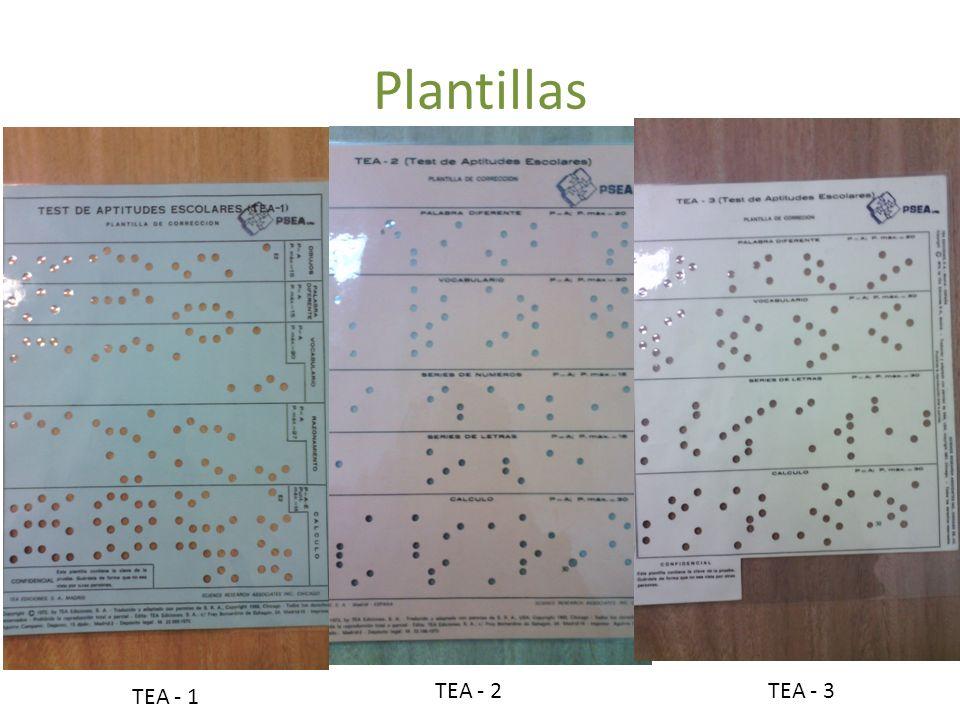 Plantillas TEA - 2 TEA - 3 TEA - 1