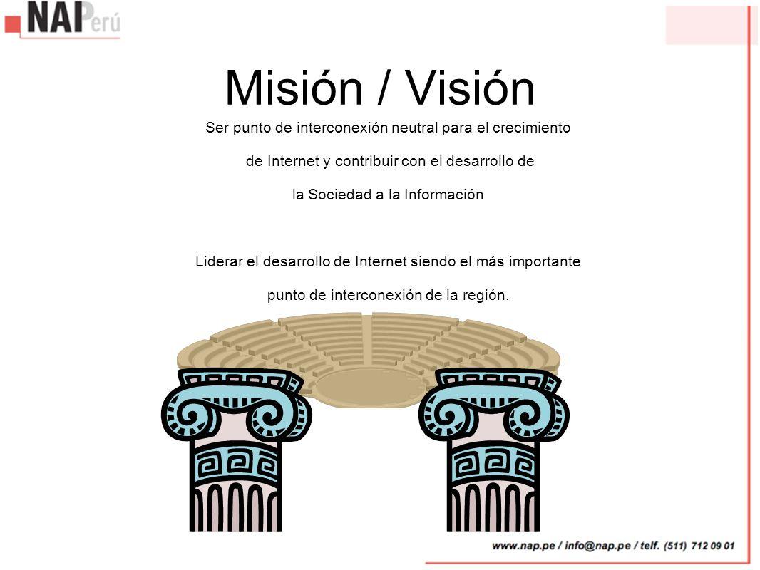 Misión / Visión Ser punto de interconexión neutral para el crecimiento