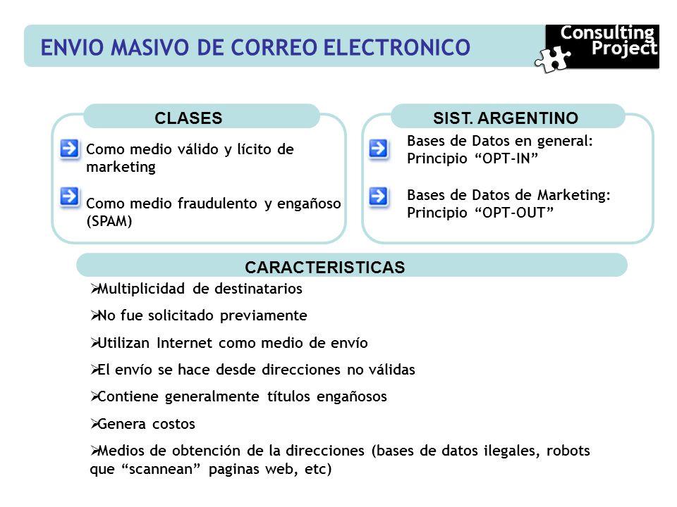 ENVIO MASIVO DE CORREO ELECTRONICO