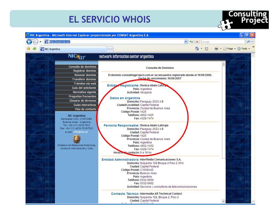 EL SERVICIO WHOIS Consulting Project