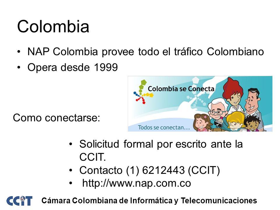 Colombia NAP Colombia provee todo el tráfico Colombiano