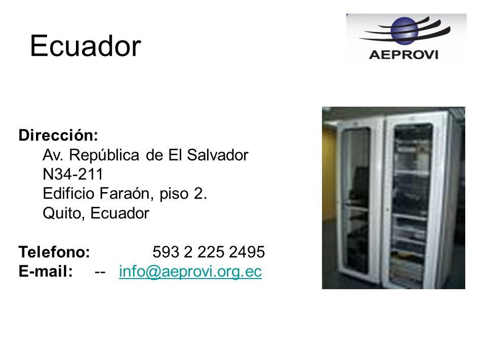 Ecuador Dirección: Av. República de El Salvador N34-211
