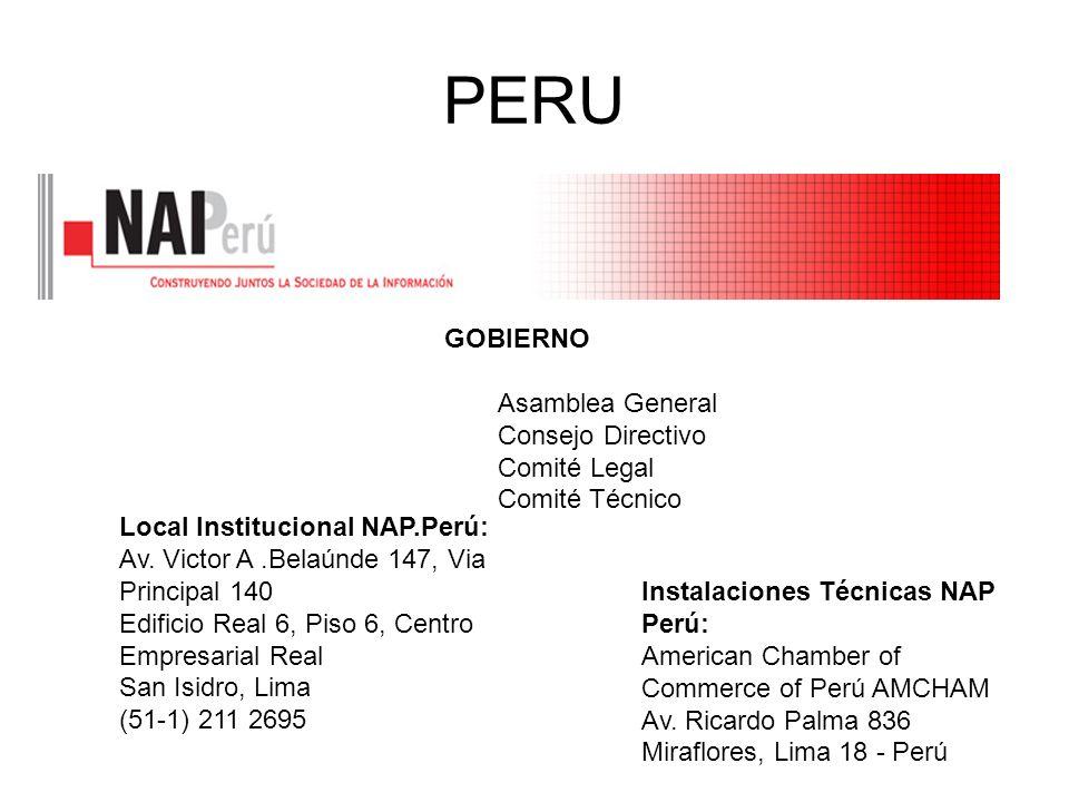 PERU GOBIERNO Asamblea General Consejo Directivo Comité Legal