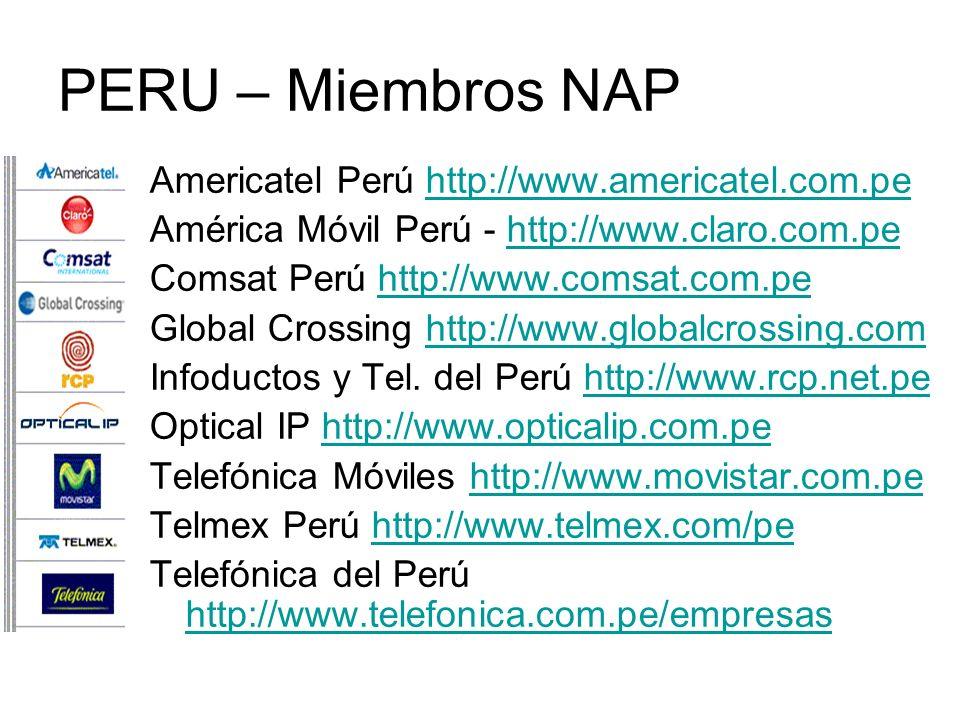 PERU – Miembros NAP Americatel Perú http://www.americatel.com.pe