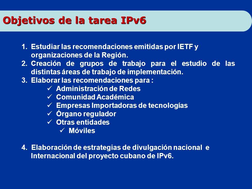 Objetivos de la tarea IPv6
