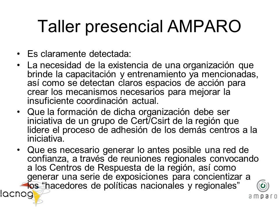 Taller presencial AMPARO