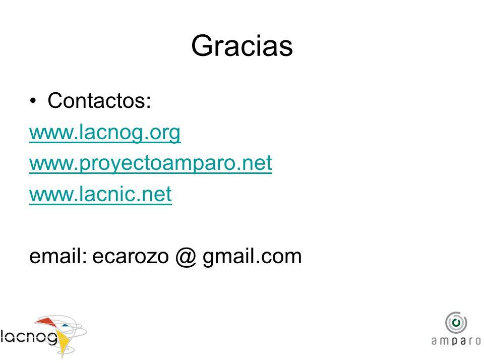 Gracias Contactos: www.lacnog.org www.proyectoamparo.net