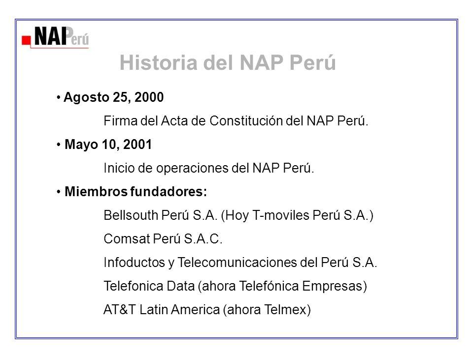Historia del NAP Perú Agosto 25, 2000
