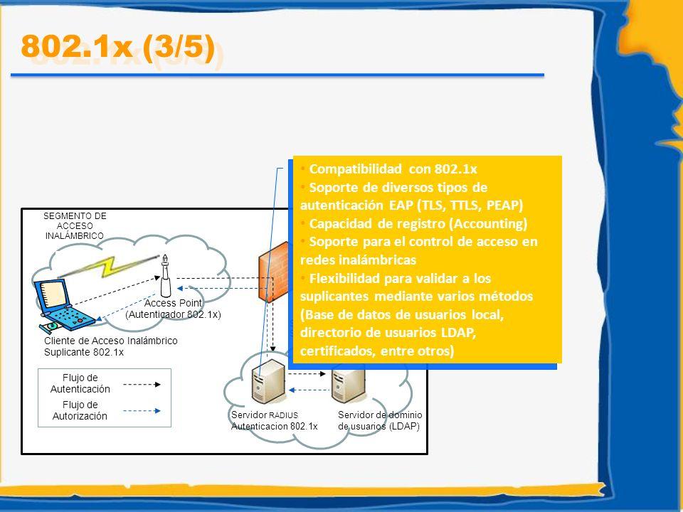 802.1x (3/5) Compatibilidad con 802.1x