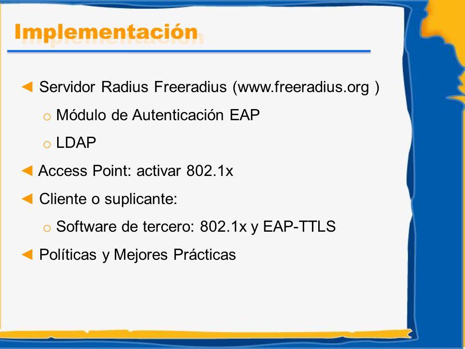 Implementación Servidor Radius Freeradius (www.freeradius.org )