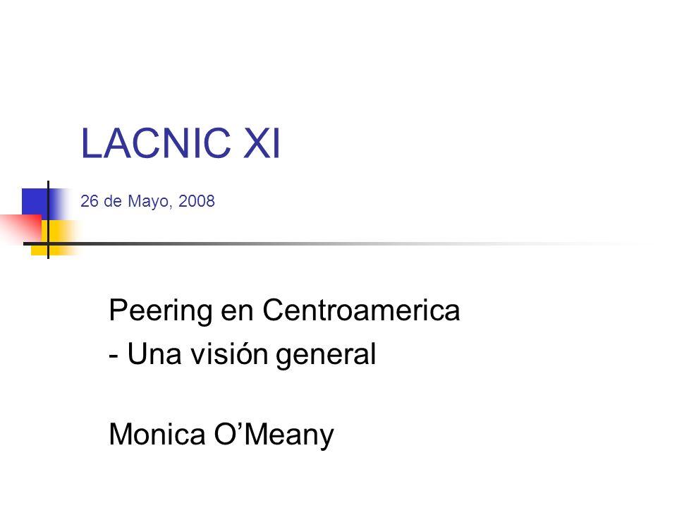 Peering en Centroamerica - Una visión general
