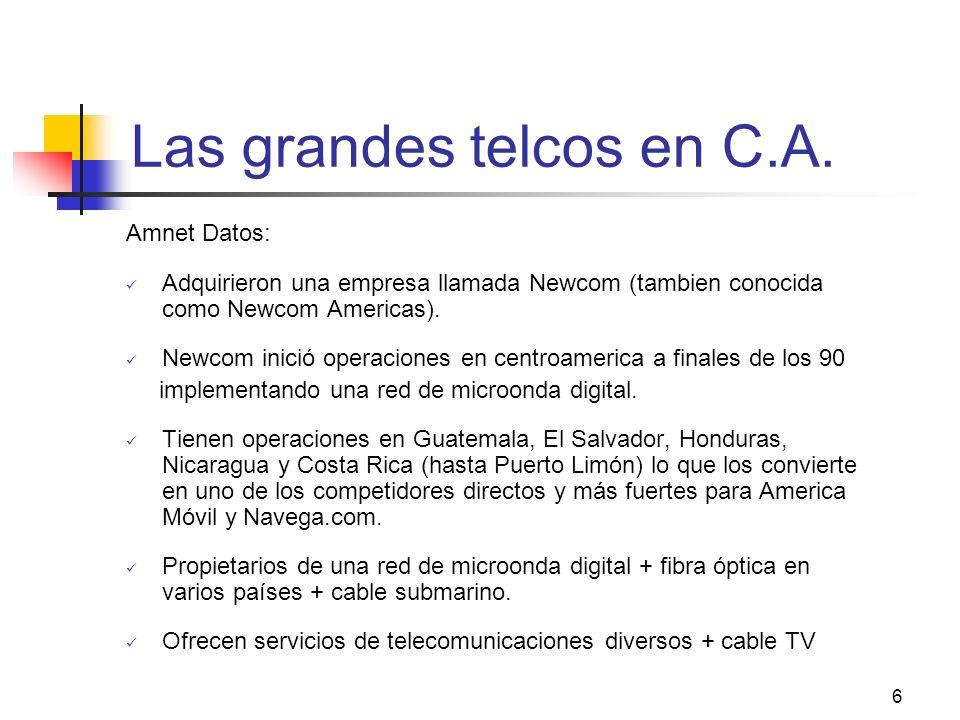 Las grandes telcos en C.A.