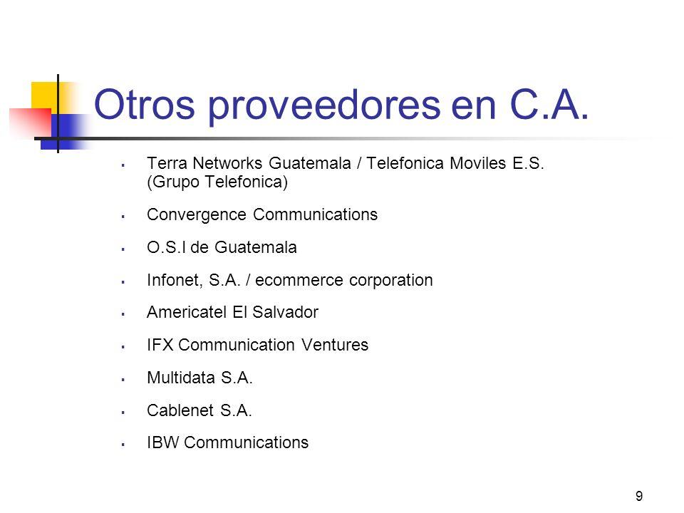 Otros proveedores en C.A.