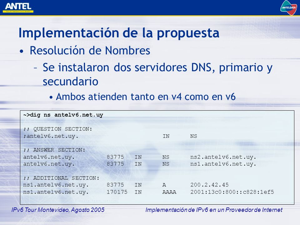 Implementación de la propuesta