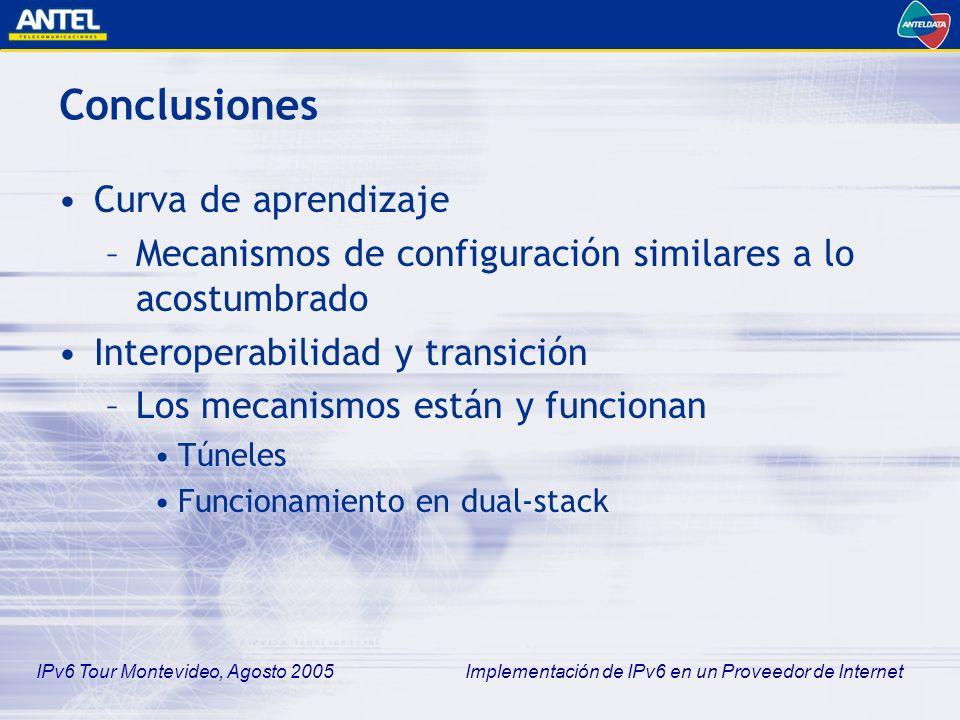 Conclusiones Curva de aprendizaje