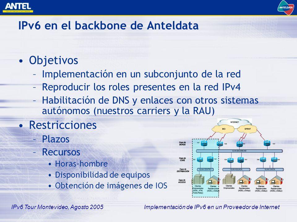 IPv6 en el backbone de Anteldata