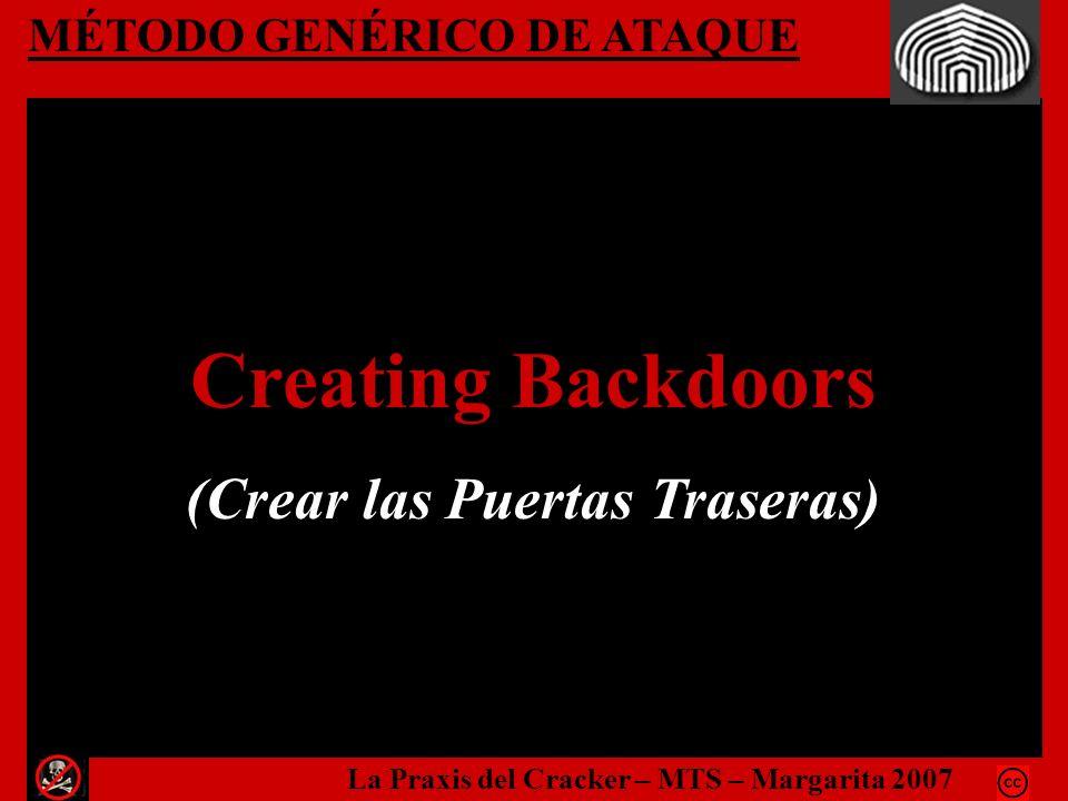 Creating Backdoors (Crear las Puertas Traseras)