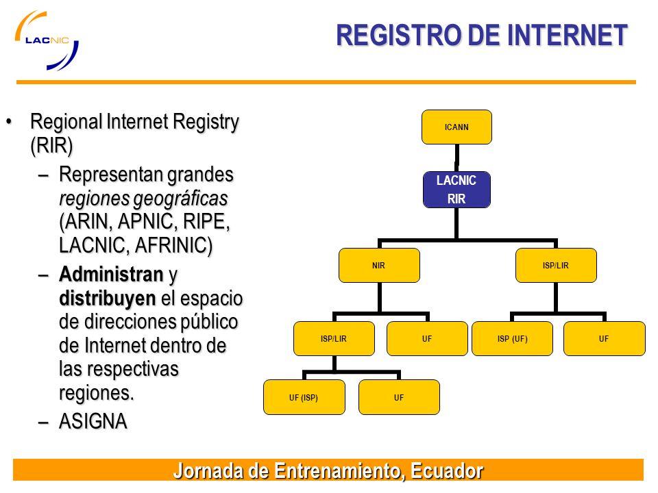 REGISTRO DE INTERNET Regional Internet Registry (RIR)