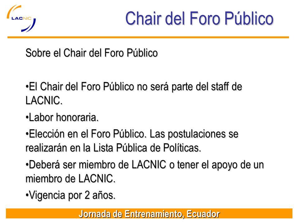 Chair del Foro Público Sobre el Chair del Foro Público