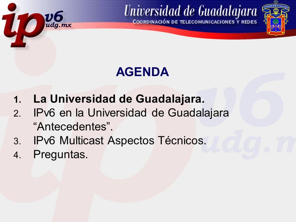 AGENDA La Universidad de Guadalajara.