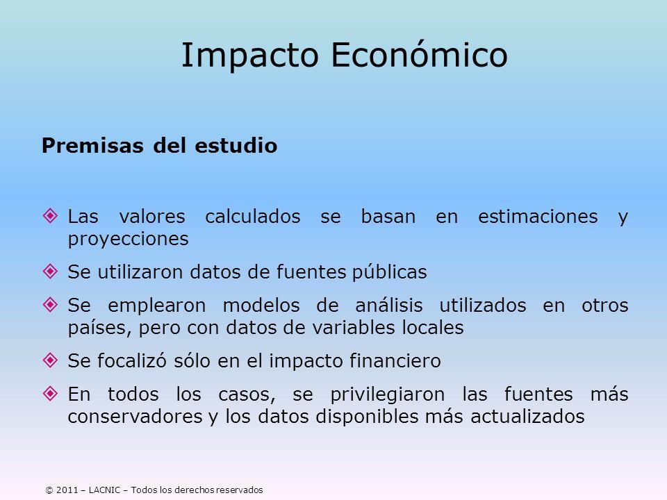 Impacto Económico Premisas del estudio