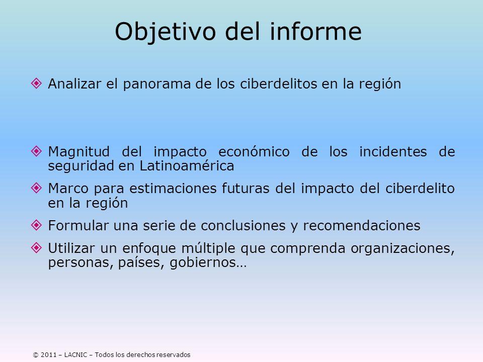 Objetivo del informe Analizar el panorama de los ciberdelitos en la región.