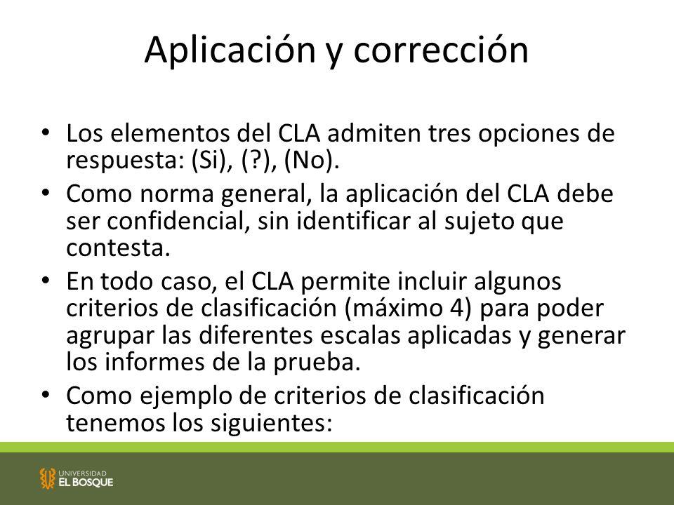 Aplicación y corrección
