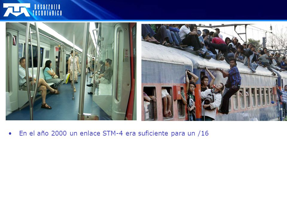 En el año 2000 un enlace STM-4 era suficiente para un /16