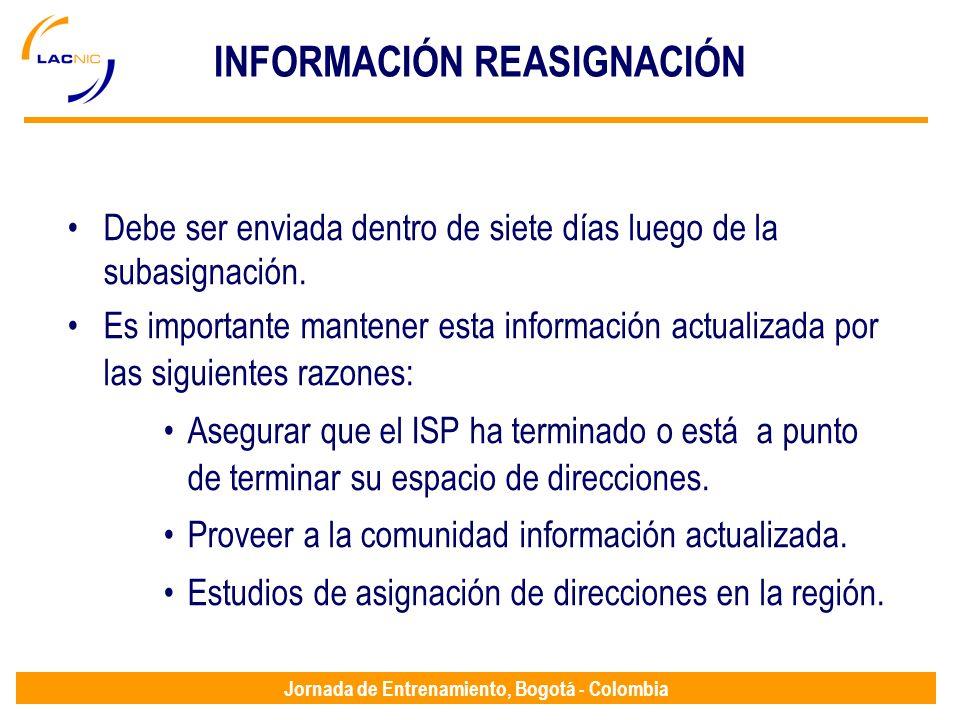 INFORMACIÓN REASIGNACIÓN