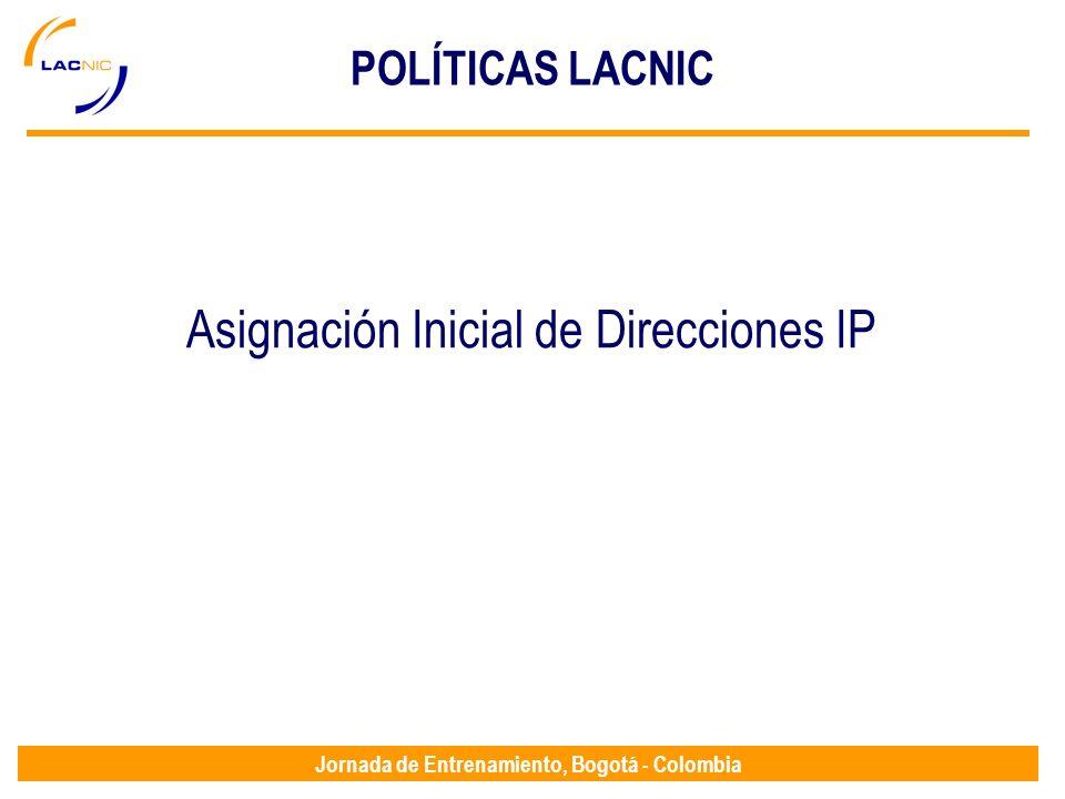 Asignación Inicial de Direcciones IP