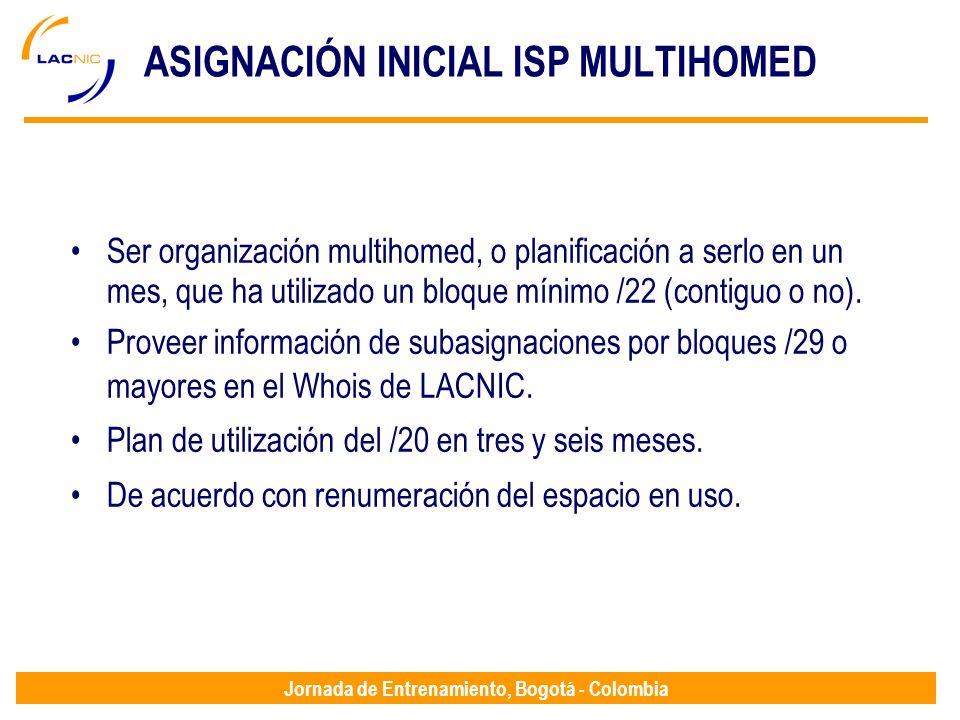 ASIGNACIÓN INICIAL ISP MULTIHOMED