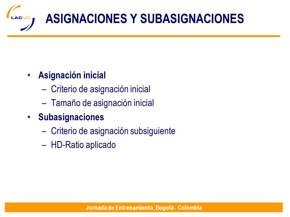 ASIGNACIONES Y SUBASIGNACIONES