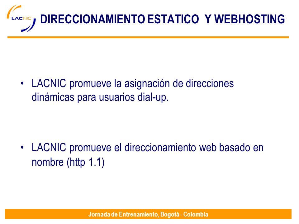DIRECCIONAMIENTO ESTATICO Y WEBHOSTING