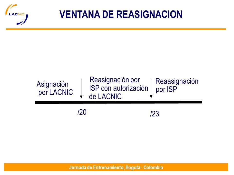 VENTANA DE REASIGNACION